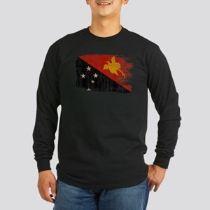 Papua new Guinea Flag Long Sleeve Dark T-Shirt