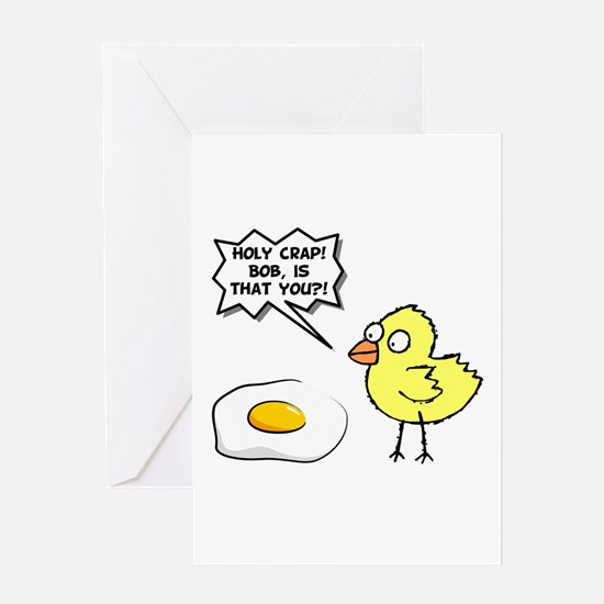Chick Egg Black.png Greeting Card