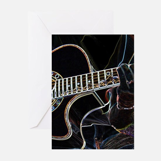 Guitar Player Greeting Cards (Pk of 10)