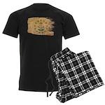 Rhode Island Flag Men's Dark Pajamas