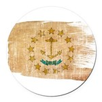 Rhode Island Flag Round Car Magnet
