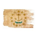 Rhode Island Flag 38.5 x 24.5 Wall Peel