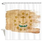 Rhode Island Flag Shower Curtain