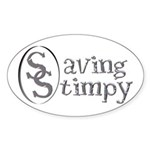Stimpy Oval Sticker