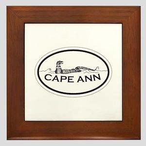 Cape Ann - Oval Design. Framed Tile