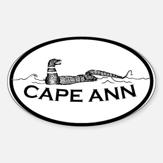 Cape Ann - Oval Design. Sticker (Oval 10 pk)