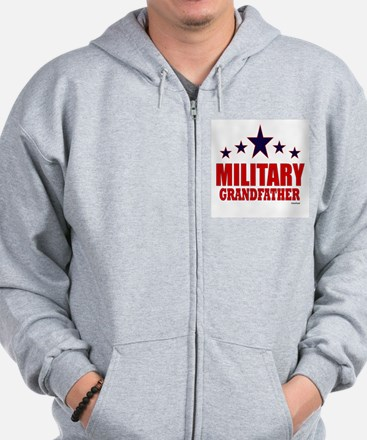 Military Grandfather Zip Hoodie