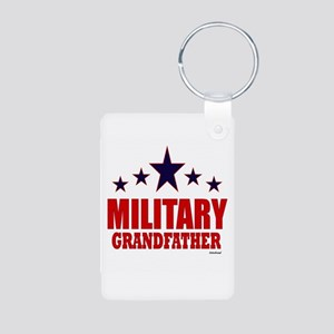 Military Grandfather Aluminum Photo Keychain
