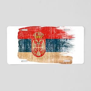 Serbia Flag Aluminum License Plate