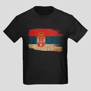 Serbia Flag Kids Dark T-Shirt