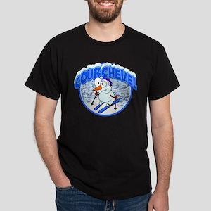 Courchevel Snowman Dark T-Shirt