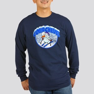 Courchevel Snowman Long Sleeve Dark T-Shirt