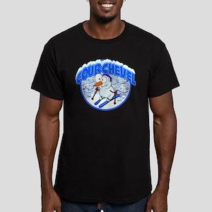 Courchevel Snowman Men's Fitted T-Shirt (dark)