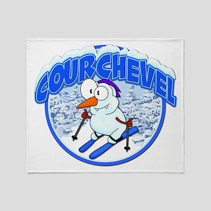 Courchevel Snowman Throw Blanket