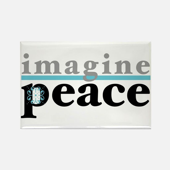 Imagine Peace Rectangle Magnet (100 pack)