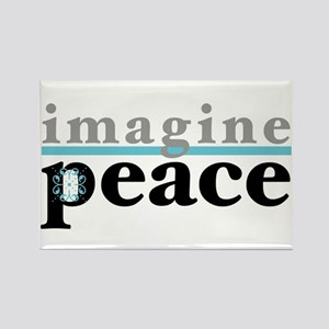 Imagine Peace Rectangle Magnet