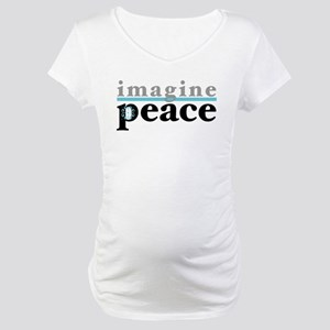 Imagine Peace Maternity T-Shirt