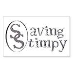 Stimpy Rectangle Sticker