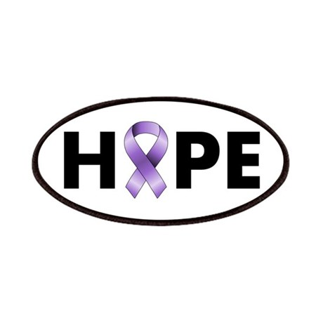 Purple Ribbon Hope Patches