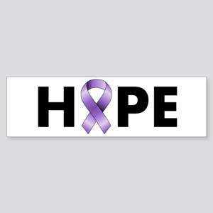 Purple Ribbon Hope Sticker (Bumper)