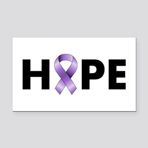 Purple Ribbon Hope Rectangle Car Magnet
