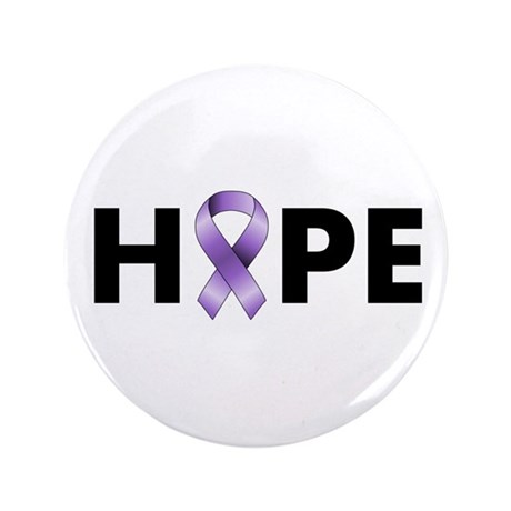 "Purple Ribbon Hope 3.5"" Button"