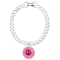 Pink Peace Daisy Bracelet