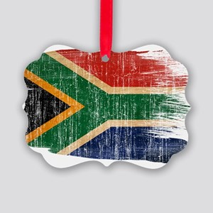 South Africa Flag Picture Ornament