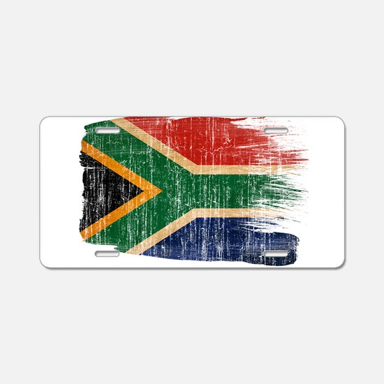 South Africa Flag Aluminum License Plate