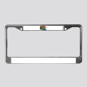 South Africa Flag License Plate Frame