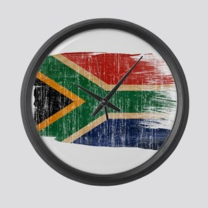 South Africa Flag Large Wall Clock