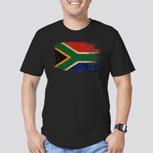 South Africa Flag Men's Fitted T-Shirt (dark)
