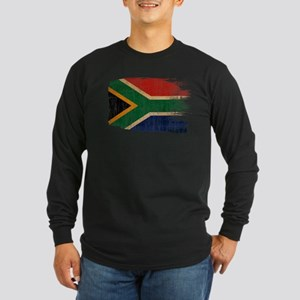 South Africa Flag Long Sleeve Dark T-Shirt