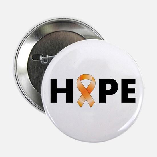 "Orange Ribbon Hope 2.25"" Button"