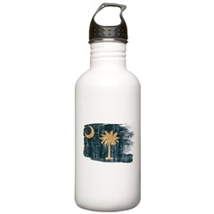 South Carolina Flag Water Bottle