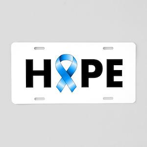 Blue Ribbon Hope Aluminum License Plate