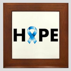 Blue Ribbon Hope Framed Tile