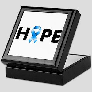 Blue Ribbon Hope Keepsake Box