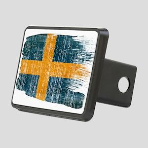 Sweden Flag Rectangular Hitch Cover