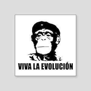 """Viva La Evolucion Square Sticker 3"""" x 3"""""""