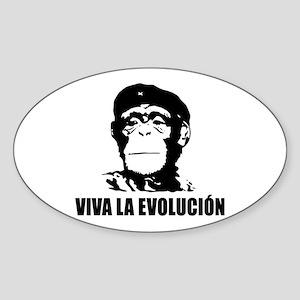 Viva La Evolucion Sticker (Oval )