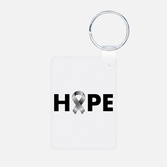 Grey Ribbon Hope Keychains