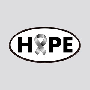 Grey Ribbon Hope Patches
