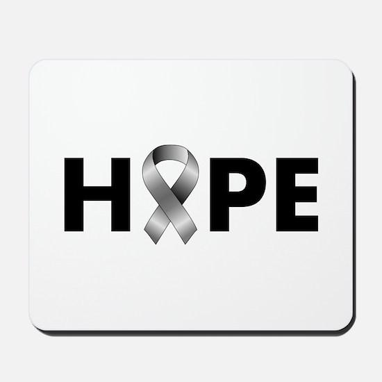 Grey Ribbon Hope Mousepad