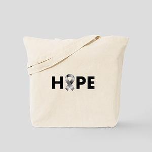 Grey Ribbon Hope Tote Bag