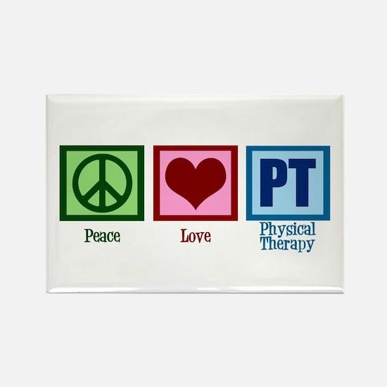 Peace Love PT Rectangle Magnet