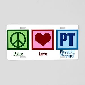 Peace Love PT Aluminum License Plate
