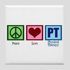 Peace Love PT Tile Coaster