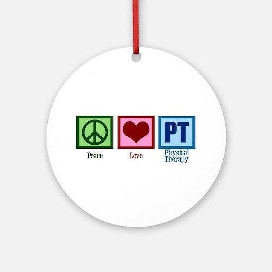 Peace Love PT Ornament (Round)