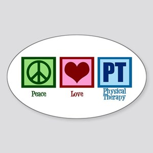 Peace Love PT Sticker (Oval)